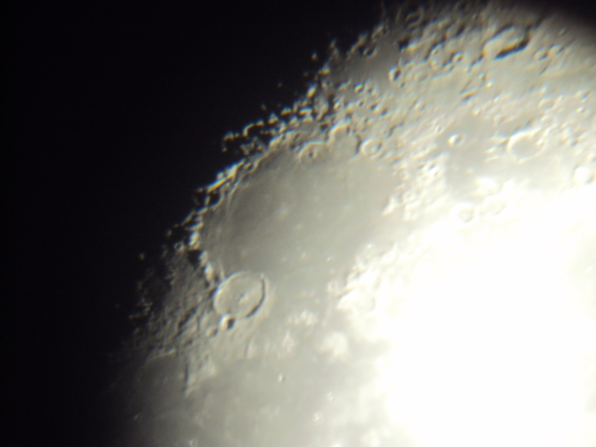 Moon crater Mare Imbrium.