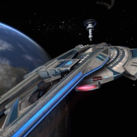 STAR TREK ONLINE | your escort for the night is a fleet patrol Maelstrom class…?