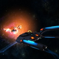 STAR TREK ONLINE | the new Fleet T6 Jupiter carrier class ... it's like the Battlestar Galatica...!!