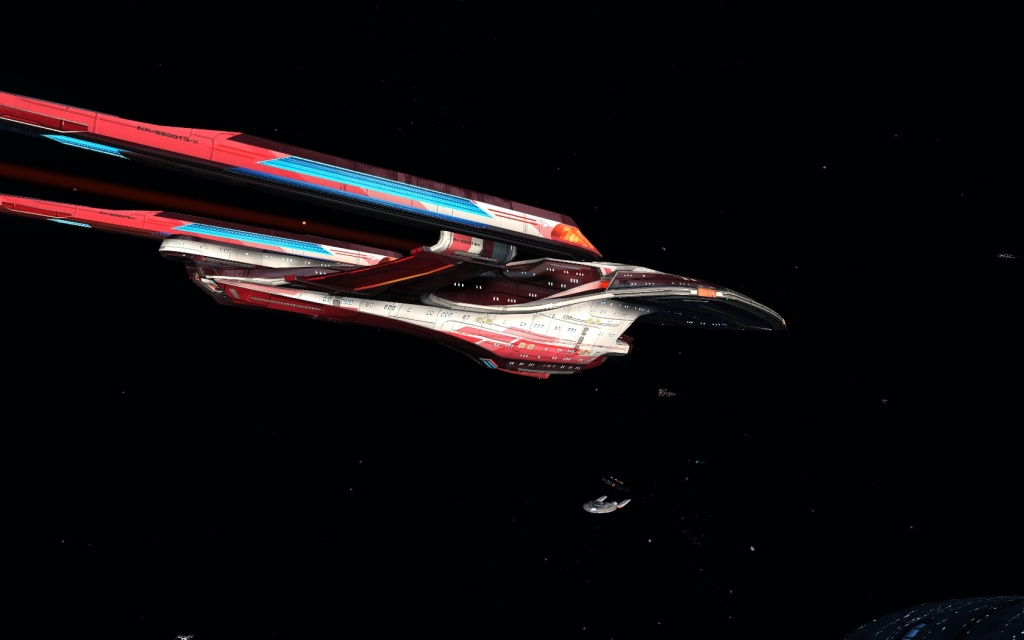 Tactical star cruiser class -Endeavour class _ engines testing..