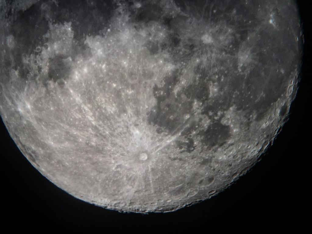 Luna the Moon proceeding towards a full Moon
