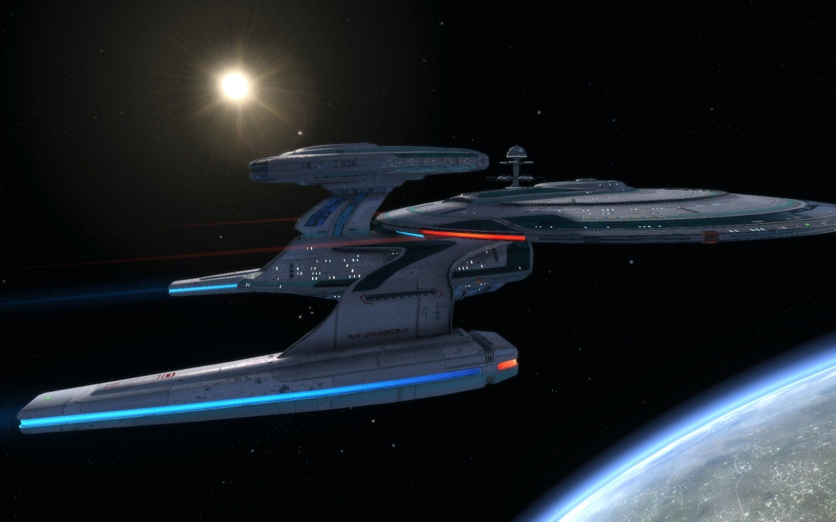 #STARTREKONLINE- #SUTHERLANDCLASS | The Fleet Tier six Sutherland Class – Advance Research vessel – The Daughter of the Nebula Class...