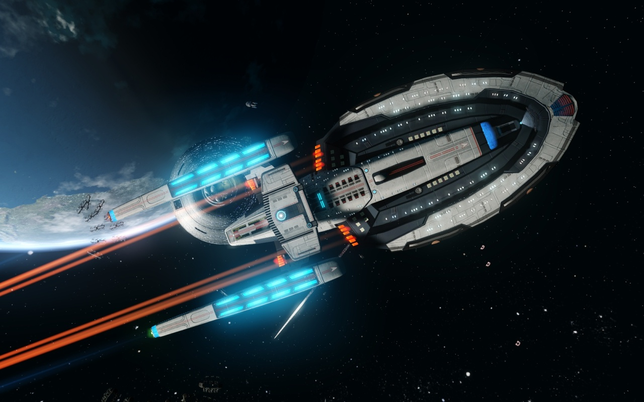 #StarTrekOnline | The Tier six – Multi Mission Surveillance Explorer- Brigid Class…