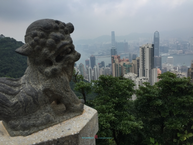 One of the Nine Lions on the Lion Pavilions pagoda that watches history in it's making..