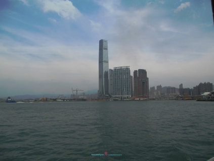 from a ferry point of view looking at West Kowloon district in which has massive potential in years to come..