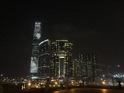 Among Also with the lighted buildings one in Particular is the The ICC building with animation that makes the night skyline electrically organically alive..