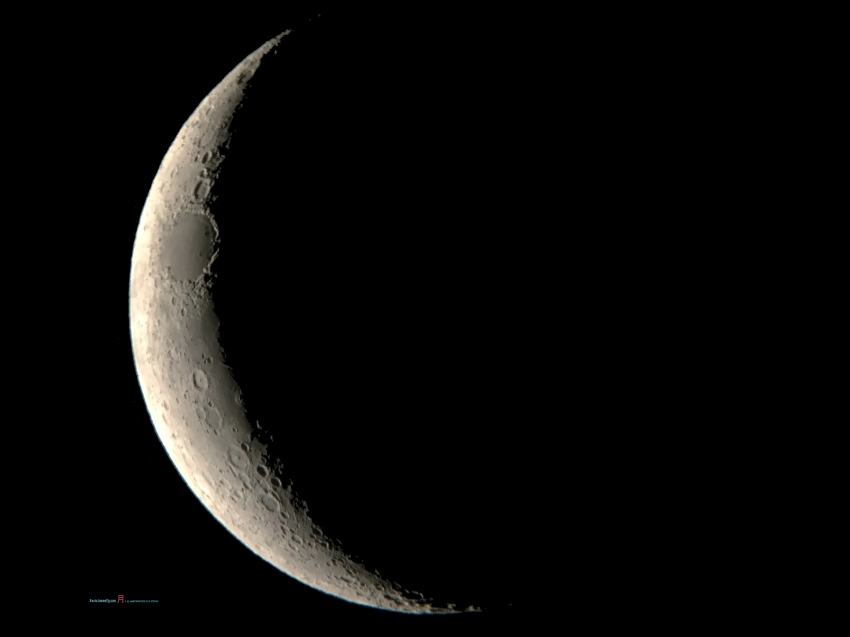 Few days from the New Moon, in which previously it was a Solar Eclipse that ran across the west to east coast of the United States..