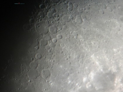 The Terminator reveals the Crater Ptolemaeus..