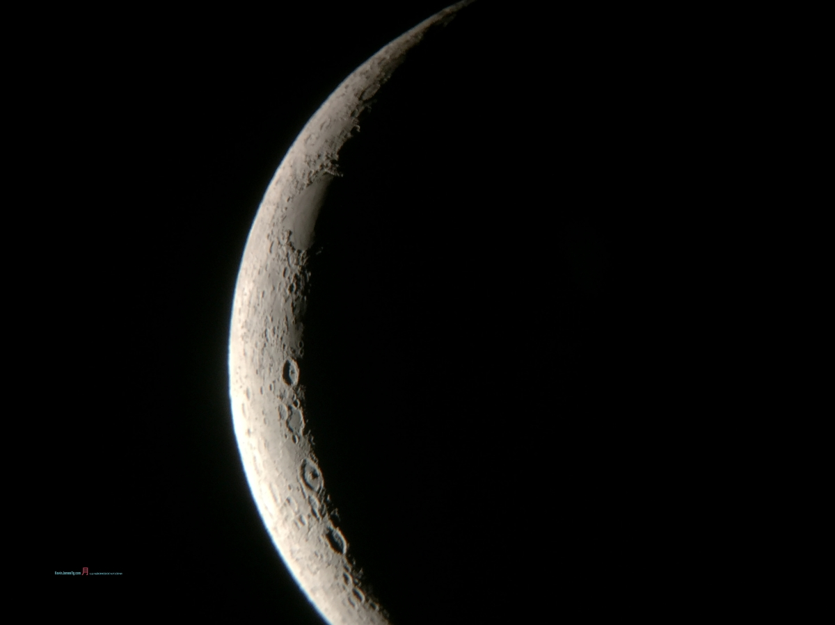 #iPhonePhotography |月- the crescent moon towards the first quarter – late September 2017- A Gallery….