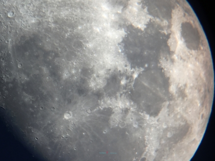 The Halloween moon at eighty two percent waxing gibbous.. in which the moon costume played the female Phantom of opera mask with the decorative Jade Rabbit eye