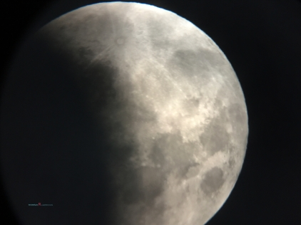 As you can see the Cyclone Fehi's clouds moves closer to hide, gate crash the Supermoon red blue Lunar Eclipse..