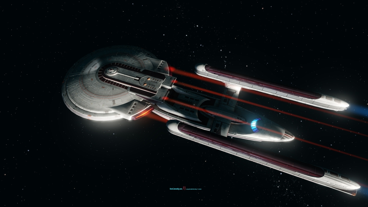 EXCEL REMASTERED TYPE SEVEN LOGO- #StarTrekOnline #VictoryIslife | The Advance Heavy Cruiser #Excelsior Class remastered refitted with new revisited texturing- A Gallery – Photographer @KevinJamesNg