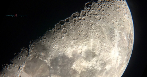 Moon as seen previously on that month of 2018 June in first quarter with its timeless terminator lines