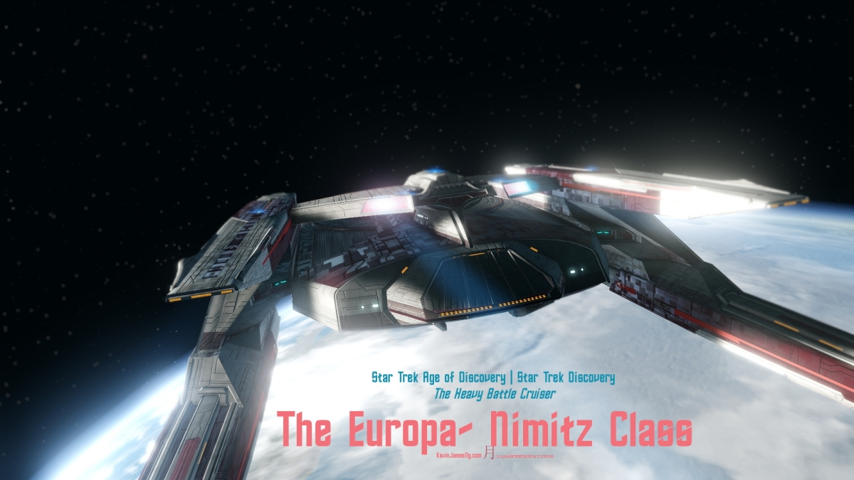 PINK NIMITZ CLASS TWO DISCO LOGO - #StarTrekOnline #AgeOfDiscovery | #StarTrekDiscovery - #EuropaClass #HeavyBattleCruiser the younger sister of the #NimitzClass – A Gallery …… Photographer @KevinJamesNg