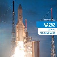 #Airbus #Arianespace   #Flightva252  launching # Arianefive #CarrierRocket  deploying two #TelecommunicationSatellite #Japan #SkyPerfect #JSAT17 also #Korea #Kari #GEO KOMPSAT-2B…….
